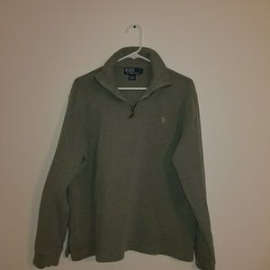 Olive Green Polo Sweater